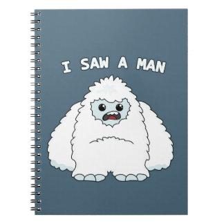 Yeti - I saw a man Notebook