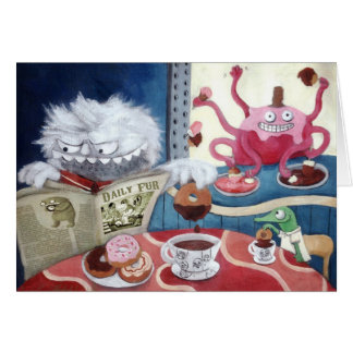 Yeti s Coffee in The Morning Greeting Cards