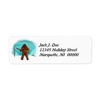 Yeti Sasquatch Bigfoot Yetis Return address Label