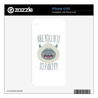 Yeti To Party iPhone 4 Skins