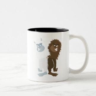 Yeti vs Bigfoot Two-Tone Coffee Mug