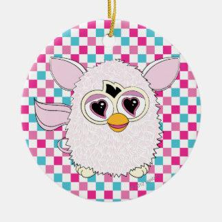 Yeti White Furby Ceramic Ornament
