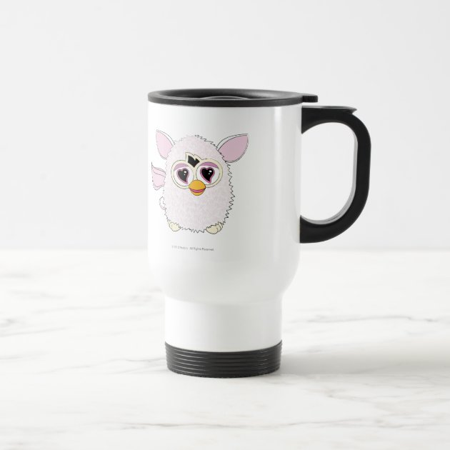 Yeti White Furby Travel Mug Zazzle Com