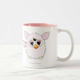 Yeti White Furby Two-Tone Coffee Mug