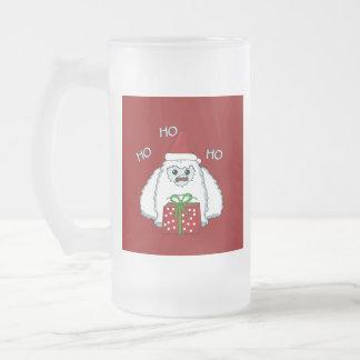Yeti Xmas Frosted Glass Beer Mug
