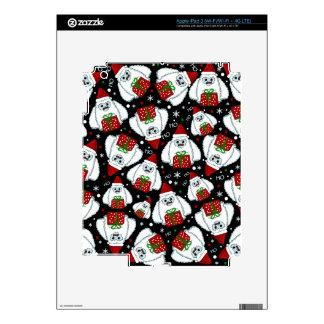 Yeti Xmas pattern iPad 3 Skins