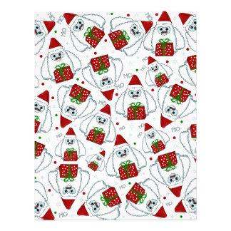 Yeti Xmas pattern Letterhead