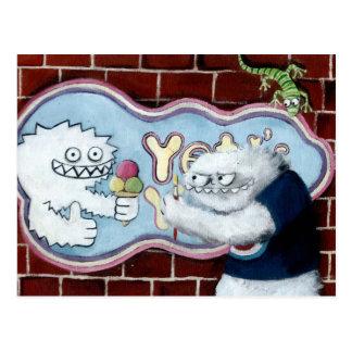 Yeti y su logotipo postal