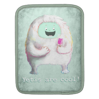 Yetis are Cool iPad Sleeves
