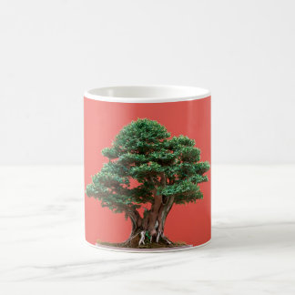 Yew bonsai coffee mug