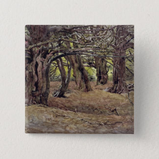 Yews in the Old Yew Wood Pinback Button