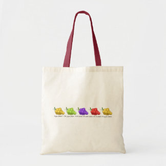 """""""Yeyow Grapes"""" (with Quote) Budget Tote Bag"""