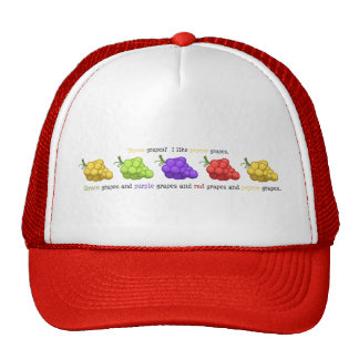 """""""Yeyow Grapes"""" (with Quote) Trucker Hat"""
