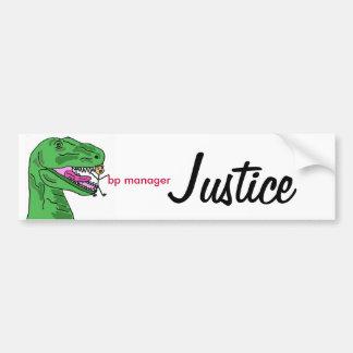 YF- BP Manager Justice Sticker Car Bumper Sticker