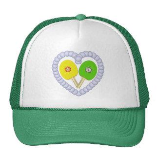 YG Ping Pong Flower Heart Trucker Hat