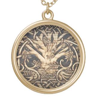 Yggdrasil - árbol de la vida - colgante - oro