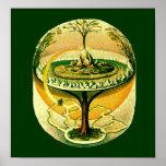 Yggdrasil, árbol de la vida poster