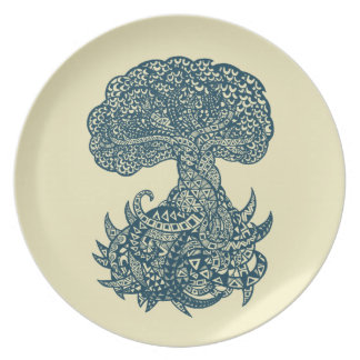 Yggdrasil Melamine Plate