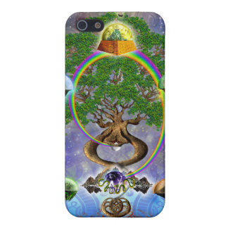 Yggdrasil, The World Tree iPhone4 Case iPhone 5 Cases