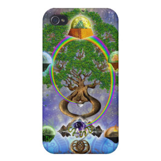 Yggdrasil, The World Tree iPhone4 Case iPhone 4/4S Cases