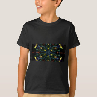 YGOBB YELLOW BLUE ORANGE GREEN FLOWER DIGITAL RAND T-Shirt