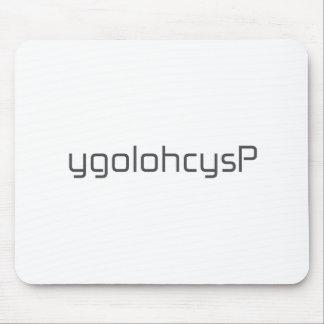 ygolohcysP black blue gray white Mouse Pad