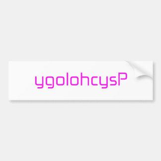 ygolohcysP orange pink red Bumper Sticker