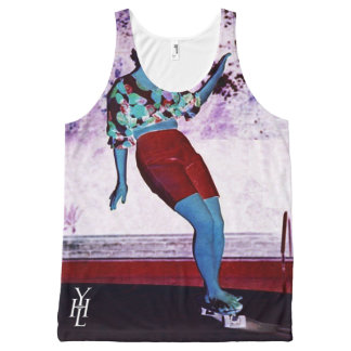 YHL All-Over Print Retro Skater Girl Tank Top