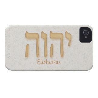 YHVH Eloheinu Modern Hebrew iPhone 4/4S BarelyTher iPhone 4 Covers