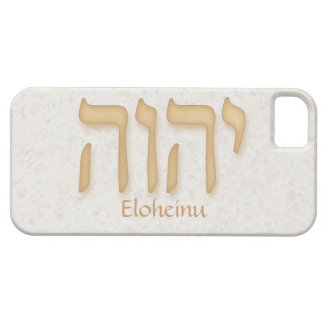 YHVH Eloheinu Modern Hebrew iPhone 5 BarelyTher iPhone SE/5/5s Case