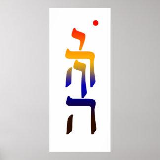 YHVH Mandala Poster
