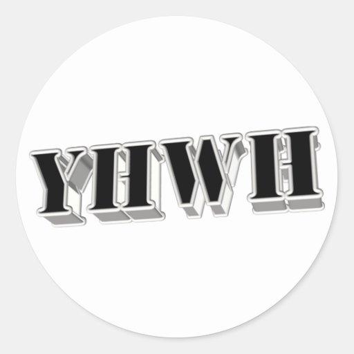 YHWH5 3D ETIQUETA REDONDA