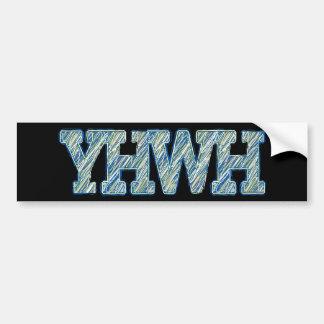 YHWH-1 BUMPER STICKER