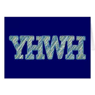 YHWH-1 GREETING CARD