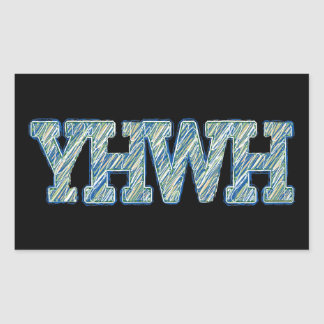 YHWH-1 RECTANGLE STICKERS