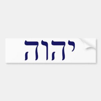 YHWH Blue Tetragrammaton Bumper Sticker