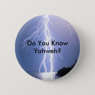 YHWH Lightning Pinback Button