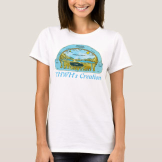 "YHWH""s Creation (flat Earth) T-Shirt"