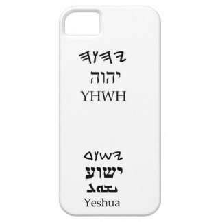 YHWH (Yahweh) and Yeshua Name Case iPhone 5 Covers