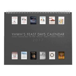 YHWH'S FEAST DAYS CALENDAR - 2017 - CANADA