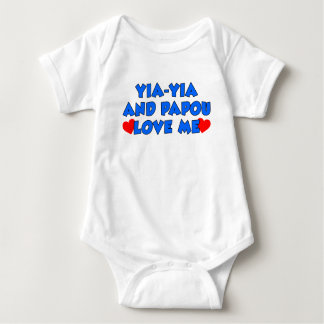 Yia-Yia and Papou Love Me Baby Bodysuit