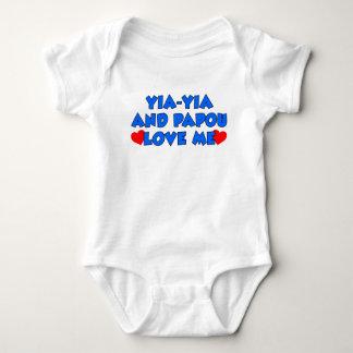 Yia-Yia and Papou Love Me Baby Bodysuit