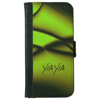 Yia Yia Design Green iPhone 6 Wallet Case