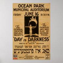 Yiddish Anti Play Vintage 1939 WPA Poster