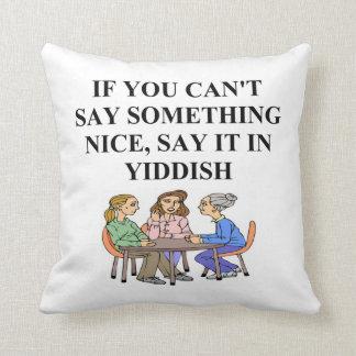 yiddish joke throw pillows