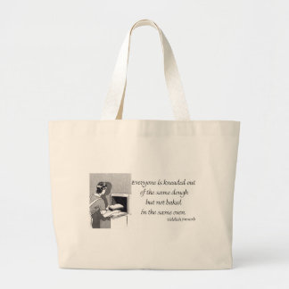 Yiddish Proverb about Baked Bread Jumbo Tote Bag