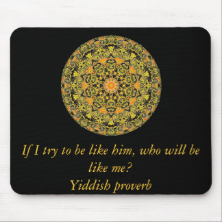 Yiddish proverb mouse pad
