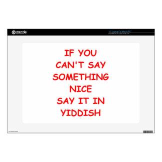 """yiddish skin for 15"""" laptop"""