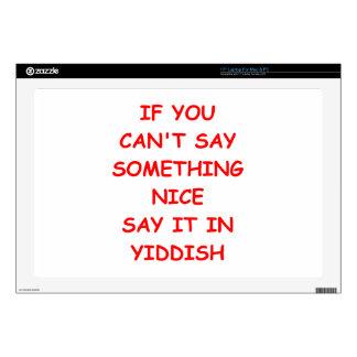 yiddish skins for laptops