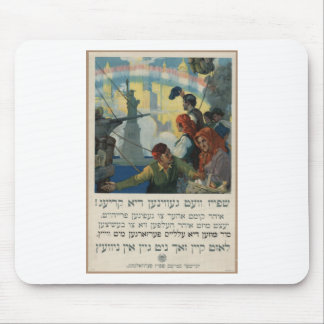 Yiddish_WWI_poster Mouse Pads